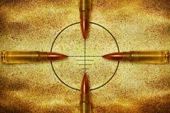 Vier Kugeln und Ziel Lizenzfreies Stockfoto