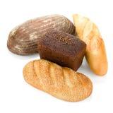 Vier Laibe Brot Stockbilder