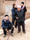 Vier landwirtschaftliche alte Leute Lizenzfreie Stockfotografie