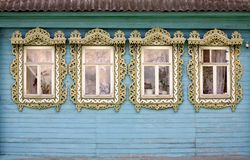 Vier landwirtschaftliche Fenster Stockfotos