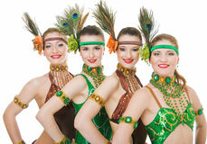 Vier latino dansers Stock Afbeelding