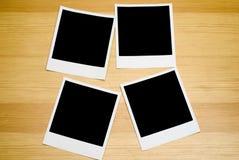 Vier leere Fotos Stockbilder