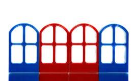 Vier lege deurkaders Royalty-vrije Stock Foto's