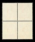 Vier Lege Postzegels Stock Afbeelding