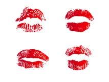 Vier Lippen Stockfotos
