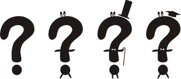 Vier lustige Fragen Stockbilder