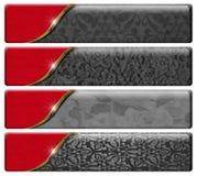 Vier Luxustitel mit Beschneidungspfad Lizenzfreies Stockbild