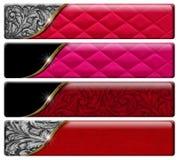 Vier Luxustitel mit Beschneidungspfad Stockfotografie