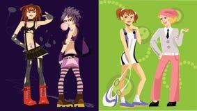 Vier Mädchen Stockfotos