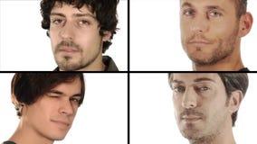 Vier Männer stock footage