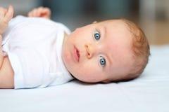Vier maanden oud baby Royalty-vrije Stock Fotografie