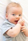 Vier maanden oud baby Stock Fotografie