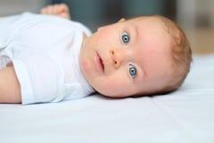 Vier maanden oud baby Stock Afbeelding
