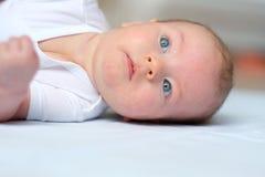 Vier maanden oud baby Stock Foto's