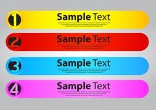 Vier malplaatjes van de kleurentoespraak voor tekst Royalty-vrije Stock Afbeeldingen
