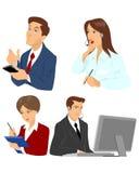 Vier Manager eingestellt stock abbildung