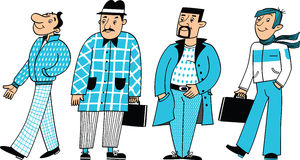 Vier Mannzeichen stock abbildung