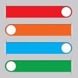 Vier mehrfarbige Bänder für die Platzierung der Textinformationen Lizenzfreies Stockfoto