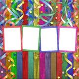 Vier mehrfarbige Felder lizenzfreie abbildung