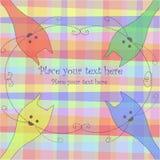 Vier mehrfarbige Katzen Lizenzfreies Stockbild