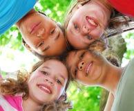 Vier meisjes Stock Afbeeldingen