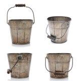 Vier Meningen van een Oude Emmer Stock Foto