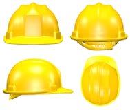 Vier meningen van gele helm Stock Afbeelding
