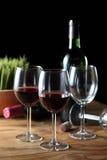 Vier met Rode wijn Royalty-vrije Stock Fotografie