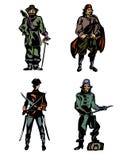 Vier moedige piraten Stock Foto