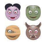 Vier Monsters Stock Afbeelding