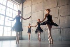 Vier mooie ballerina's royalty-vrije stock afbeelding