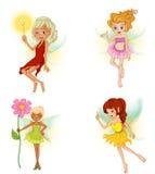 Vier mooie feeën Royalty-vrije Stock Afbeelding