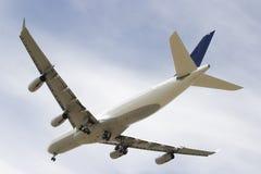Vier motorlijnvliegtuig stock foto's