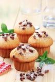 Vier muffins Stock Foto's