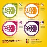 Vier multi-colored ontwerpelementen Royalty-vrije Stock Afbeelding