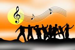Vier muziek royalty-vrije illustratie
