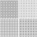 Vier naadloze abstracte netwerkpatronen Stock Illustratie