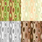 Vier naadloze abstracte patronen Stock Foto's
