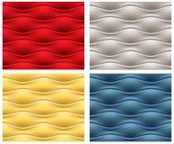 Vier naadloze golvende patronen Stock Foto