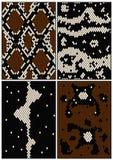 Vier naadloze patronen Stock Fotografie