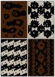 Vier naadloze patronen Stock Afbeeldingen