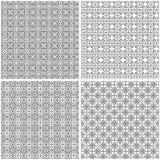 Vier naadloze siernetpatronen Vector Illustratie