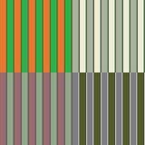 Vier nahtlose irische Streifen-Muster Lizenzfreies Stockbild