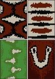 Vier nahtlose Muster Stockfotos