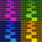 Vier neon vectorachtergrond Royalty-vrije Stock Afbeeldingen