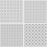 Vier netwerk naadloze patronen Vector Illustratie