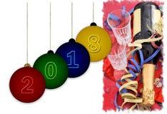 Vier nieuw jaar 2009 Stock Foto