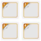 Vier optiesmalplaatje met 3D paginakrul vector illustratie