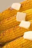 Vier oren van geroosterd graan stock afbeelding