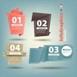 Vier origamidocument element Royalty-vrije Stock Afbeeldingen